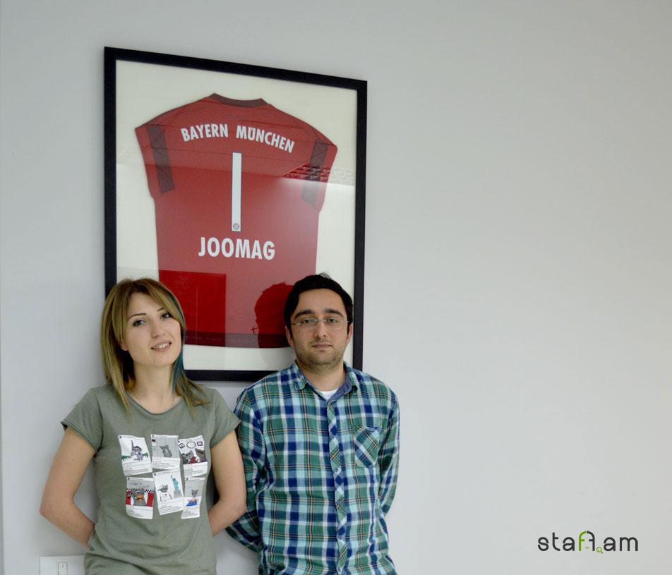 Անի Մարգարյան և Դանիել Աբյան, Joomag Armenia-ի հարթակից օգտվող Մյունխեն ֆուտբոլային ակումբից ստացված հատուկ նվերի ֆոնին 🙂