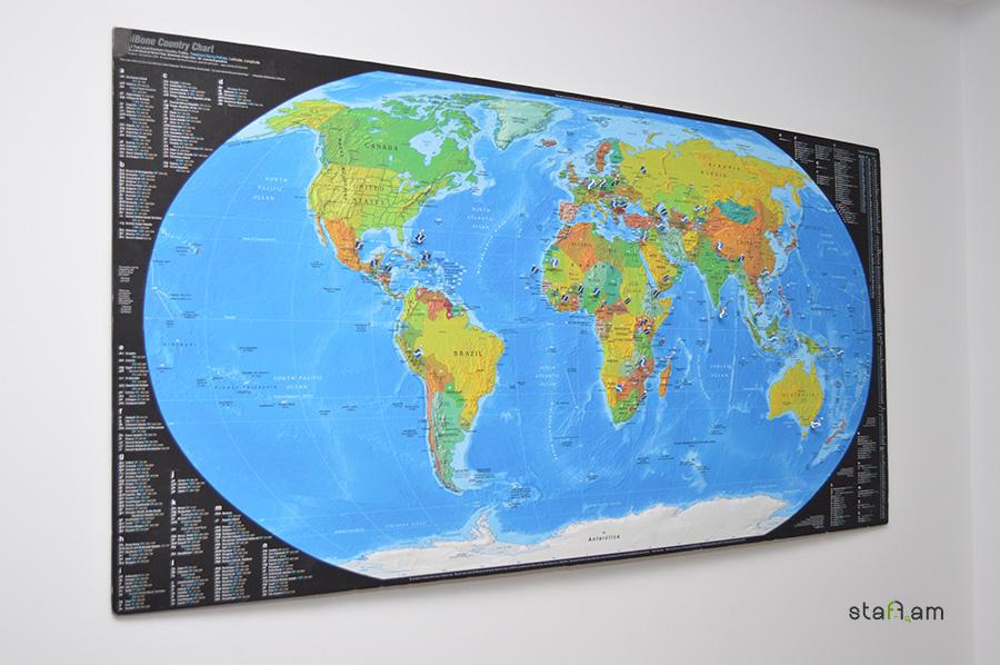 Քարտեզի վրա նշված են այն բոլոր երկրները, որտեղ Սիներջի Արմենիան նախագծեր է իրականացրել