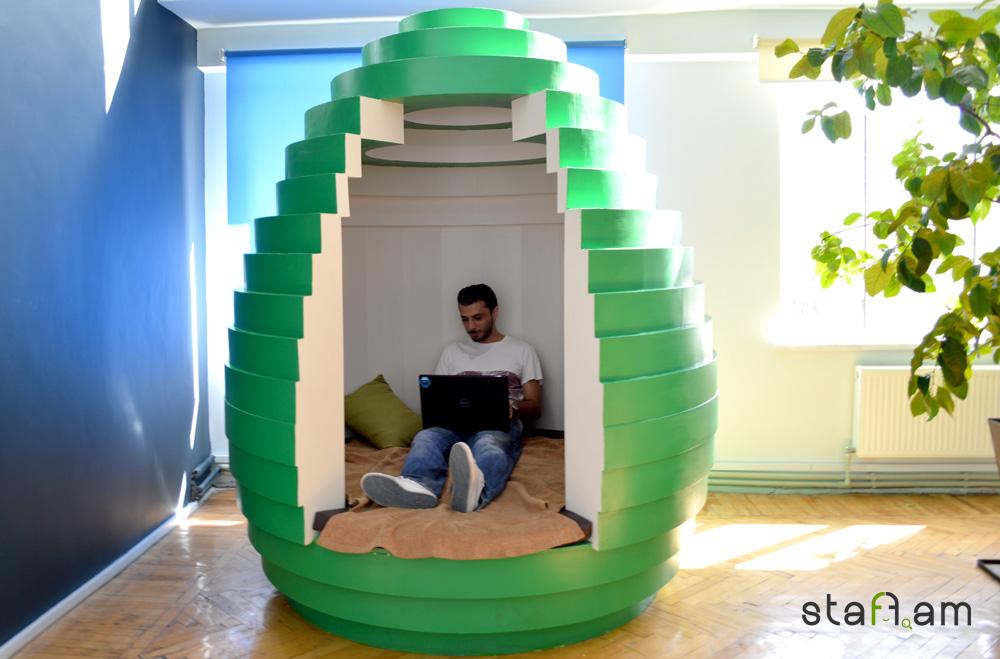 Այս հետաքրքիր տարածքը կարող է օգտագործվել որպես հանգստի կամ աշխատանքի համար