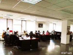 Վեբբ Ֆոնտենի open-space գրասենյակը