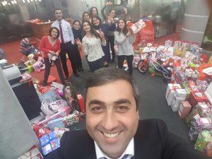 Աշխատակիցները հավաքագրում են ամանորյա նվերներ սահմանամերձ շրջանների երեխաների համար