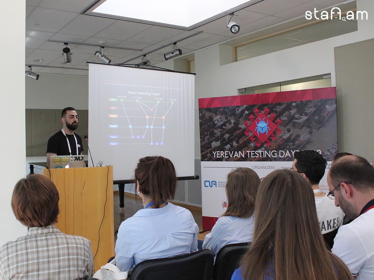 Develandoo CTO Աշոտ Հարությունյանը Yerevan Testing Days կոնֆերանսին